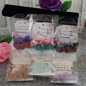BEAUTIFUL HAIR CLIPS WITH SCRUNCHIES